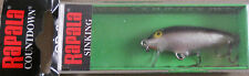 Rapala 1 1/2 in CD-3 S Original Sinking Count Down Minnow 1/8 oz Balsa Wood Lure