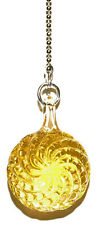 BEAUTIFUL GOLD GLASS SWIRL CEILING FAN PULL (FP014)