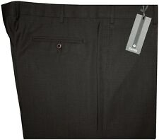 $295 NEW ZANELLA NORDSTROM DARK BROWN MINI CHECK WEAVE 120'S DRESS PANTS 42