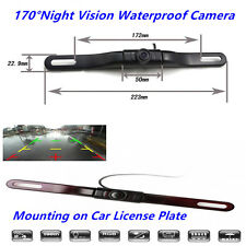 5LED HD 170° Auto License Plate Mount Wireless Rear View Cameras IR Night Vision