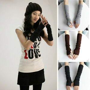 Stretchy Arm Warmers Long Fingerless Gloves Fashion Mittens Women Hot clothing