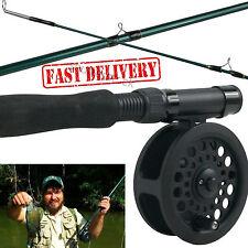 Fly Fishing Rod Reel Combo Kit Fish Equipment Flies Leader Line Camping Gear