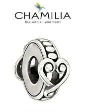 Genuine CHAMILIA 925 sterling silver AFFECTION spacer charm bead love heart