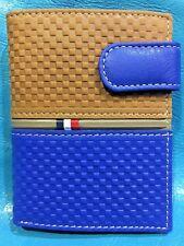 Cartera de Piel Vacuno | Hombre | Azul Francia | Piel de Ubrique | Hand Made