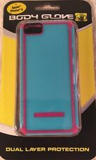 New Apple iPhone 5 BODY GLOVE Dual Layer Cover Case TACTIC CASE Pink & Blue