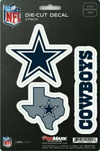 New NFL Dallas Cowboys Team ProMark Die-Cut Decal Stickers 3-Pack