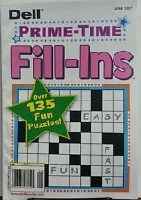 Dell Prime Time Fill Ins June 2017 Over 135 Fun Puzzles FREE SHIPPING sb