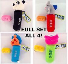 PEZ PLUSH Full SET of 4 Eye Panda Horse Elephant Retired Basic Fun New NWT