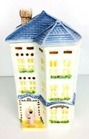 Vintage AVON Townhouse Collection Mrs Albee Victorian Home Cookie Jar Canister