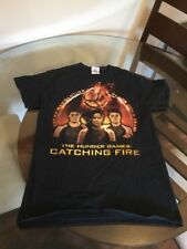 The Hunger Game Catching Fire Black T-Shirt Small Good Condition