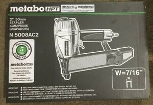 """NEW! Metabo N5008AC2 7/16"""" Crown Construction Sheathing Stapler - free shipping"""