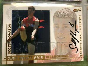 2001 DRAFT PICK SIGNATURE SCOTT THOMPSON MELBOURNE