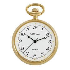 Gotham Men's Gold-Tone Mid-Size 17 Jewel Mechanical Pocket Watch # GWC14067GA