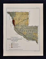 1884 Minnesota Geology Map - Benton Sherburne County Watab Sauk Rapids Bailey MN