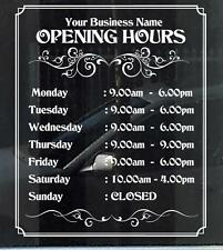 Customized Business/Opening Hours Window/Wall Decal, Durable 7 Yrs Quality Vinyl