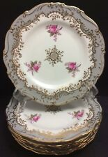 "BEAUTIFUL COALPORT *MASTERPIECE* PATTERN 1 SALAD PLATE(S) 7 3/4"" GREY~GOLD~ROSE"