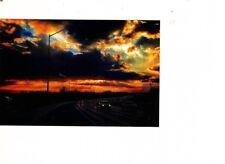 photo art sunset looking back at Philadelphia Pennsylvania route 95  urban