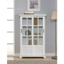 Nice White Curio Cabinet Glass Doors Painting