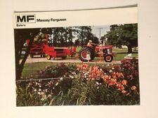 Massey-Ferguson MF 12 22 124 126 Baler Color Brochure 12 pg '74 MINT 175 Tractor