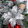 2020 Glitter Big Christmas Flower Tree Hanging Ornaments Festival Xmas Decor