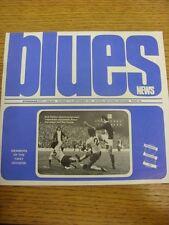 11/09/1973 Birmingham City v Chelsea  . Footy Progs (aka bobfrankandelvis) are p