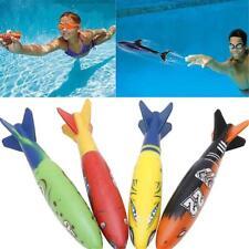 4PCS/Set Underwater Torpedo Rocket Swimming Pool Toy Swim Dive Sticks Games_Sale