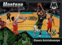 Giannis Antetokounmpo 2019-20 MOSAIC Montage Insert Card #15 Milwaukee Bucks NBA