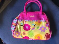 Barbie Thermos Insulated Purse Pink With Stripes And Flowers EUC