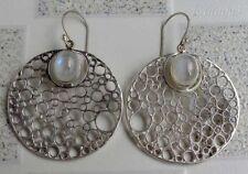 Hook Moonstone Sterling Silver Handcrafted Earrings
