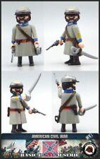Playmobil Custom Soldado Ejército Confederado CORONEL INFANTERIA WESTERN SUDISTA
