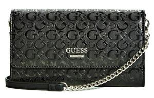 NEW GUESS Campos Womens Handbag Crossbody Clutch Shoulder Bag & Card Case Black