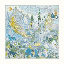 Auth Hermes Silk Scarf 90cm Cosmographia Blanc Bleu Vert NEW