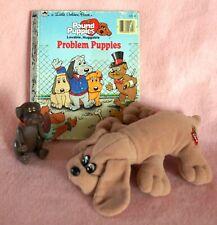 Vintage 80's 1986 Tonka Pound Puppies Little Golden Book Toy Figure & Plush Lot