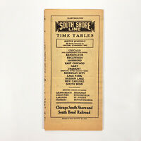 1946 South Shore Line Time Table Chicago South Bend Railroad Railway Brochure