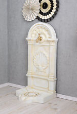 Fountain Cottage Ornamental Renaissance Stile Metal White with Tap