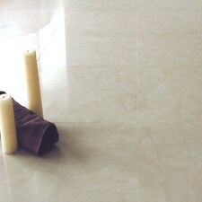 10x10cm Sample of 60x60cm Cream Polished Porcelain Marble Effect Floor Tile