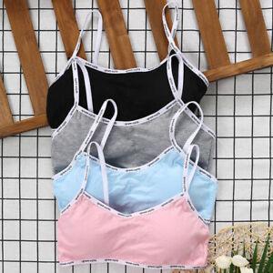 4X Girls Teenage Training Bra Kid Soft Breathable Cotton Underwear Tops Clothing