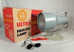Vintage Phillps Ultraphil UV Health Light Lamp KL2866 Tested Working