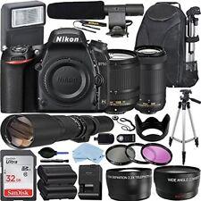 Nikon D750 DSLR Camera with AF-S DX NIKKOR 18-140mm + 70-300mm Nikkor Zoom Lens