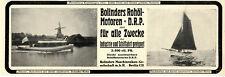"""Motorboot """"Ekona"""" Bolinder Patent Rohöl-Motoren Herstellerwerbung von 1912"""