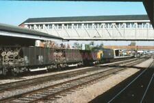 PHOTO  BALLAST  TRAIN AT NEWBURY RAILWAY STATION  1975