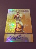 2012 Leaf Valiant Gold NICK FOLES #NF1 Auto #/10