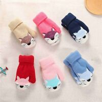 Gloves Knitted Cute Fox Warm Thick Outdoor Boys Girls Winter Children's Mittens