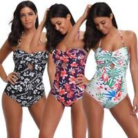 Sexy Women BOHO One-Piece Swimsuit Swimwear Push Up Monokini Bikini Bathing Suit