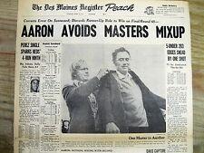 Best 1973 headline display newspaper TOMMY AARON wins MASTERS GOLF CHAMPIONSHIP