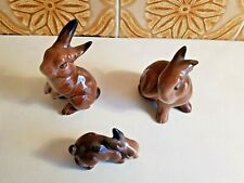 More details for beswick brown rabbits mns. 823 - 824 - 825. p&p included.