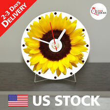 NEW Sunflower CD Clock Flower Decor Floral Flowers Yellow Bouquet Sunflowers Art