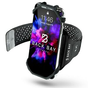 No-Slip 360 Running Armband - Back Bay Fitness- Removable Rotating Phone Holder