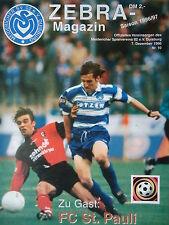 Programm 1996/97 MSV Duisburg - FC St. Pauli