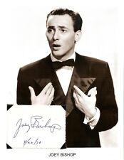 Joey Bishop Autograph Rat Pack Frank Sinatra Sammy Davis Jr Dean Martin Peter #2